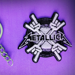 Download free STL metalic keychain, 3dlito