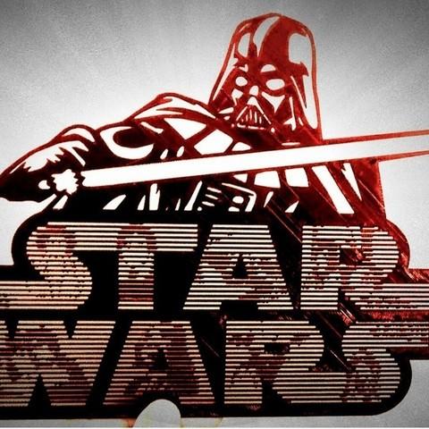 Free 3D printer model STAR WARS LOGO STENCIL, 3dlito