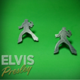 Free STL EARRINGS / PIN ELVIS PRELEY, 3dlito