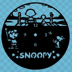 SNOOPY.jpg Download STL file SNOOPY WATCH • 3D print object, 3dlito