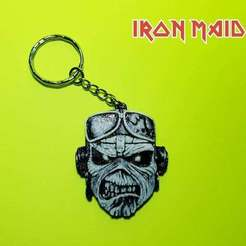 Download free 3D printer designs Llavero Iron Maiden, 3dlito