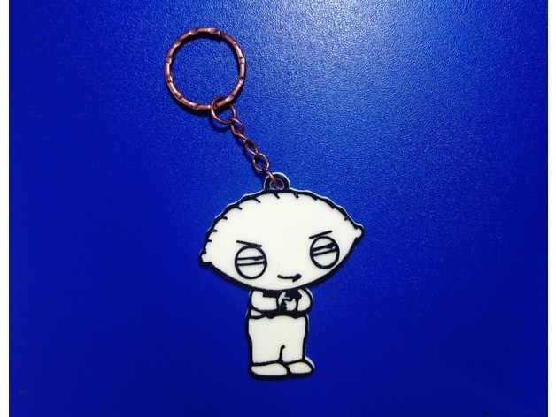 5e7d6903a7d95e144f9e0d7cb795bebd_preview_featured.jpg Download free STL file Key ring Stewie Griffin • Object to 3D print, 3dlito