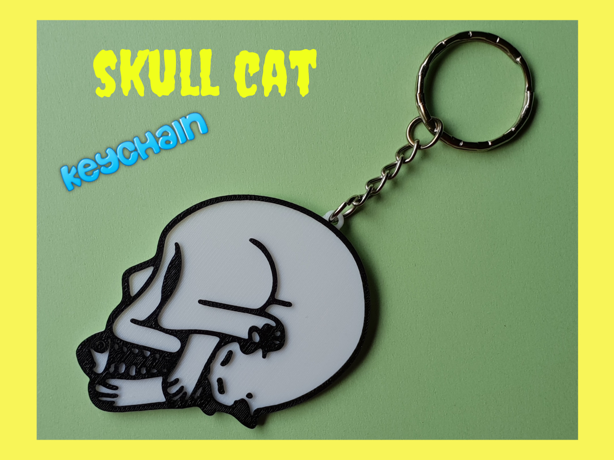 Untitled_design2.jpg Download free STL file keychain skull cat • 3D print object, 3dlito
