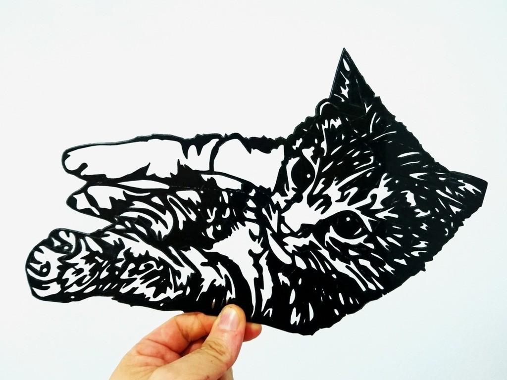 8b1236be9b275938460680d9a85f4ae9_display_large.jpg Download free STL file cat stencil • 3D printable object, 3dlito
