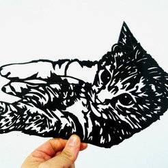 Free 3d printer model cat stencil, 3dlito