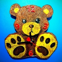 Download free 3D printing designs Teddy Bear Clock TED, 3dlito