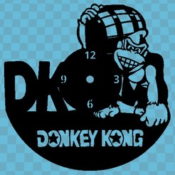 donkey kong.jpg Download free STL file DONKEY KONG CLOCK • Design to 3D print, 3dlito