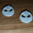 Télécharger plan imprimante 3D gatuit boucle d'oreille Jack Skellington, 3dlito