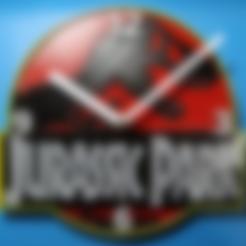 Reloj Parque Jurasico.stl Download STL file Jurassic Park Clock • 3D print template, 3dlito