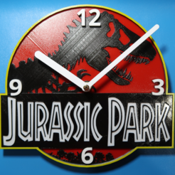 Download 3D printing files Jurassic Park Clock, 3dlito
