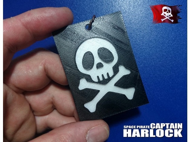 7020a7ea91ae2232f858feade2234f12_preview_featured.jpg Download free STL file Key ring captain harlock 2 • 3D printable model, 3dlito