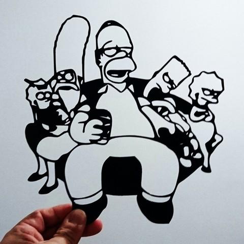 Download free STL file Simpson stencil, 3dlito