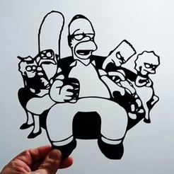 Download free STL file Simpson stencil, 3dlito