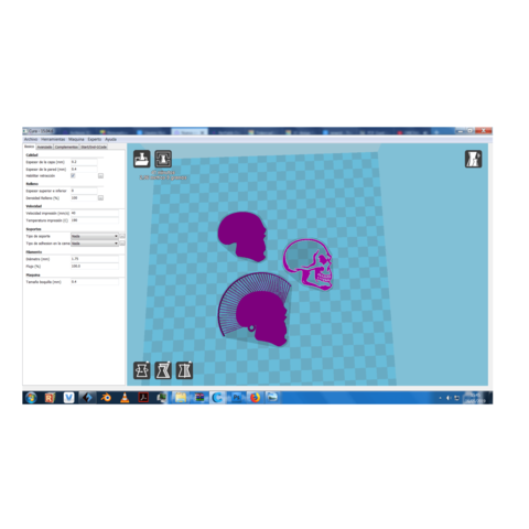 Sin Título(16).png Download free STL file Skull keychain with hair • 3D printing design, 3dlito