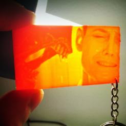 Free STL file Keychain alien 3 (lithophane), 3dlito