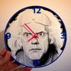 Download free STL Reloj Regreso al futuro, 3dlito