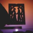 Descargar modelos 3D gratis bb silueta stencil enamorados, 3dlito