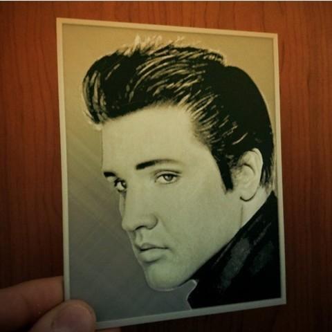 Free 3d printer model 3D drawing Elvis Presley, 3dlito