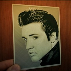 Free 3D printer model 3D drawing Elvis Presley, 3dlito