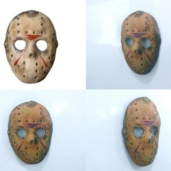 Free 3D printer file Jason Mask (Friday 13th) magnet/magnet, 3dlito