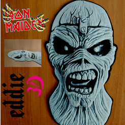 Free 3d model DRAWING 3D eddie (IRON MAIDEN) ... 3D DRAWING ....., 3dlito