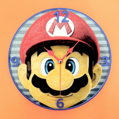 Free STL files Mario 3D Clock, 3dlito