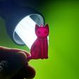 Imprimir en 3D keychain cat litofania skeleton, 3dlito