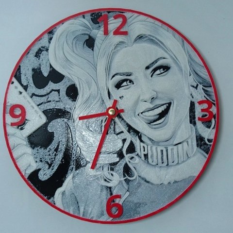 29962abb5f68f09da9e8255d439e9bb5_display_large.jpg Download free STL file Reloj harley quinn • 3D printing template, 3dlito