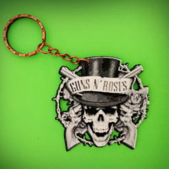 Download free 3D printer model Guns N 'Roses Keychain, 3dlito