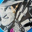 Free 3d printer designs Freddy Krueger clock, 3dlito