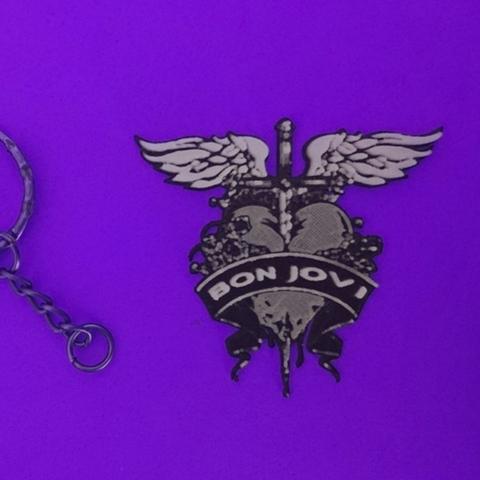 Free stl files Keychain Bon Jovi, 3dlito