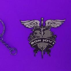 Descargar diseños 3D gratis Keychain Bon Jovi, 3dlito