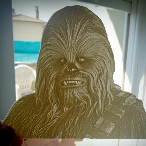 Download free 3D printing files Litofania Chewbacca, 3dlito