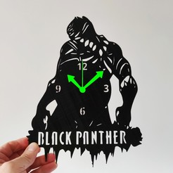 black p.jpg Download STL file BLACK PANTHER WATCH • 3D printable object, 3dlito