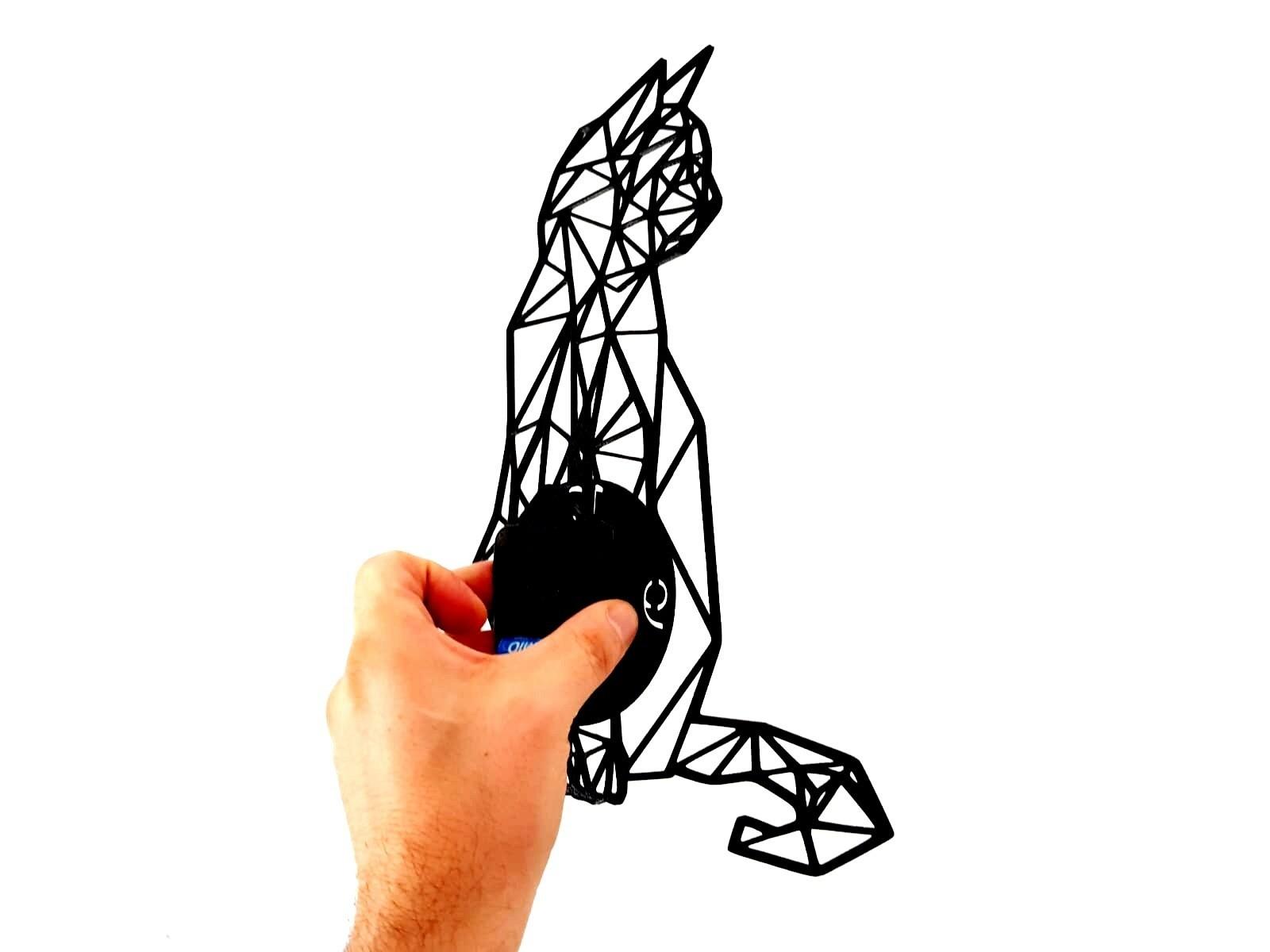 photostudio_1534446616282.jpg Download STL file Clock geometric cat • 3D printing design, 3dlito