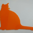 Free STL files 3d cat drawing, 3dlito