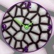 8a111d6a450c6b66e8532ed3354d5dcc_display_large.jpg Télécharger fichier STL gratuit Reloj Voronoi • Plan pour impression 3D, 3dlito