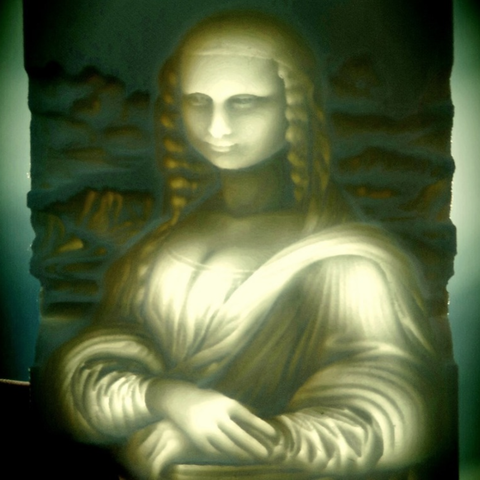 Free mona lisa LITHOPHANE 3D printer file, 3dlito