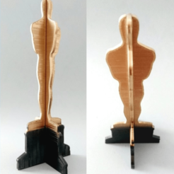 Download free 3D printing files Oscar, 3d printable trophy, 3dlito