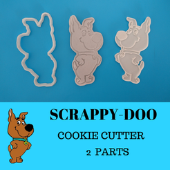 Sin Título(20).png Download STL file Cookie Cutter Scrappy-Doo • 3D print template, 3dlito