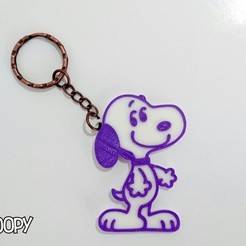 Free 3D printer files Snoopy keychain, 3dlito
