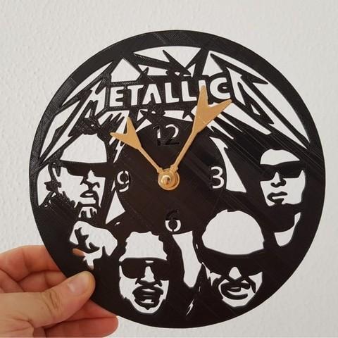Free 3D model Reloj MetallicA, 3dlito