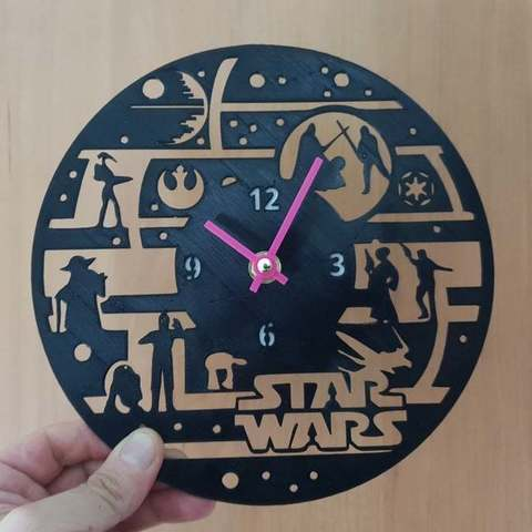 Download free 3D printer designs Reloj Star Wars, 3dlito
