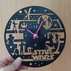 Free STL files Reloj Star Wars, 3dlito