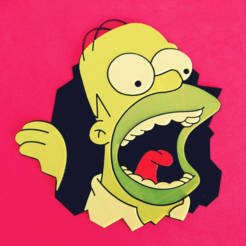 Free STL files Homer Simpson color, 3dlito