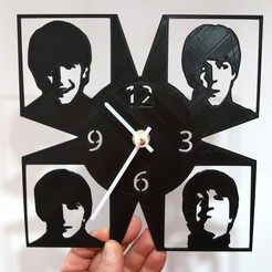 Free 3D printer files Reloj Beatles, 3dlito