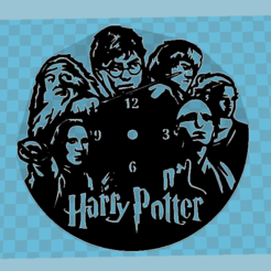 STL files Harry Potter wall clock, 3dlito
