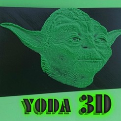 Free 3d printer model 3D YODA DRAWING (STAR ​​WARS), 3dlito