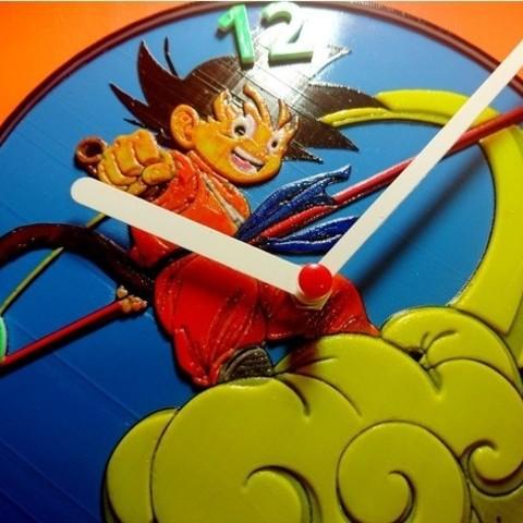 Download Free 3d Printing Templates Reloj Dragon Ball Z Cults