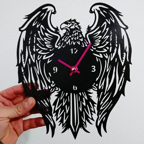 Impresiones 3D gratis Reloj aguila, 3dlito